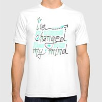 I've Changed My Mind Mens Fitted Tee White SMALL