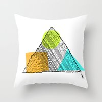 Triangle Doodle Throw Pillow