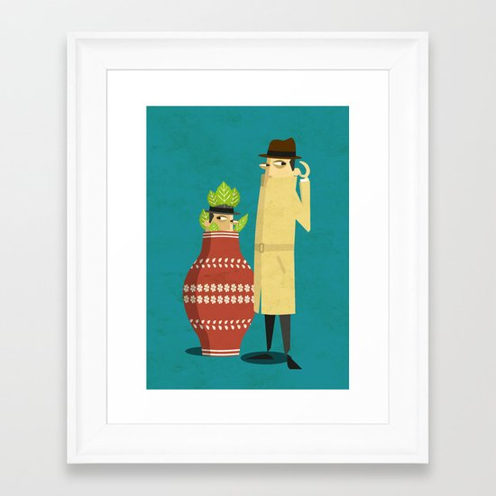 There's a spy near you Framed Art Print