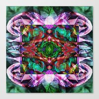 Acid Rose Canvas Print