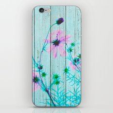 Sweet Flowers on Wood 03 iPhone & iPod Skin