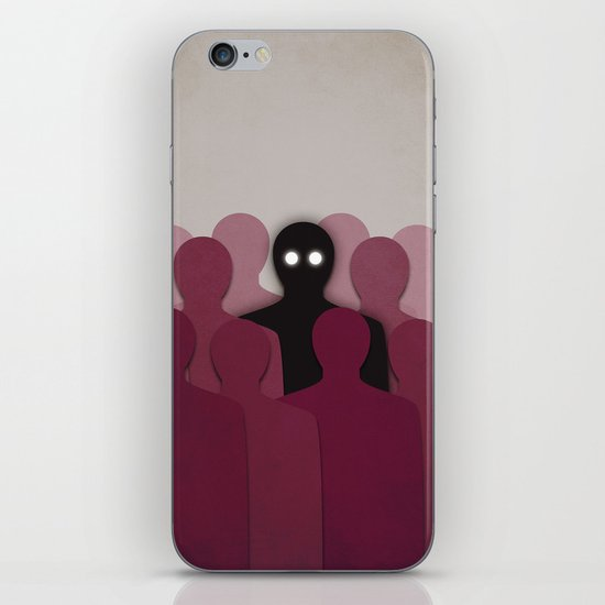 Different And Alone In Crowd iPhone & iPod Skin