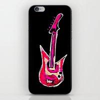 pink guitar iPhone & iPod Skin