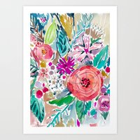 High by the Beach Floral Art Print