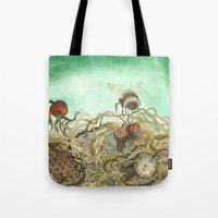 Bumblebee In Thorns Tote Bag