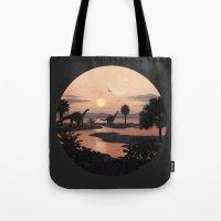 Jurassic Beach Tote Bag