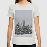 White Forest Womens Fitted Tee Silver SMALL
