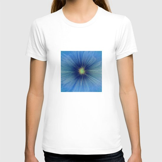 Abstract Flower - blue T-shirt