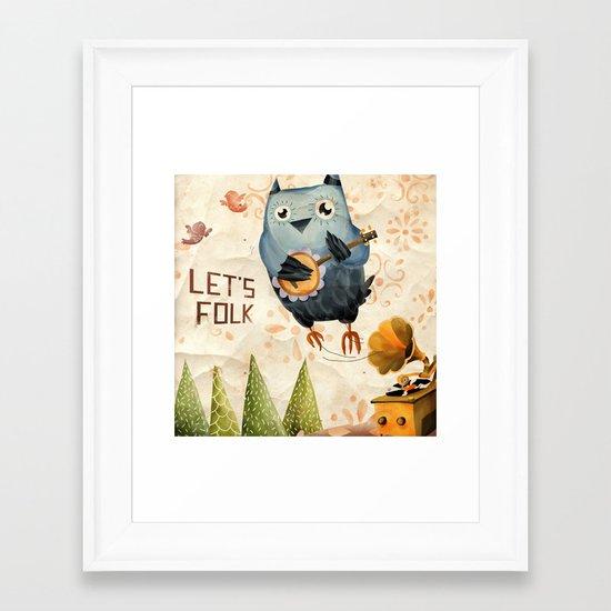 Let's Folk! Framed Art Print