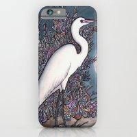 Egret In The Moonlight iPhone 6 Slim Case