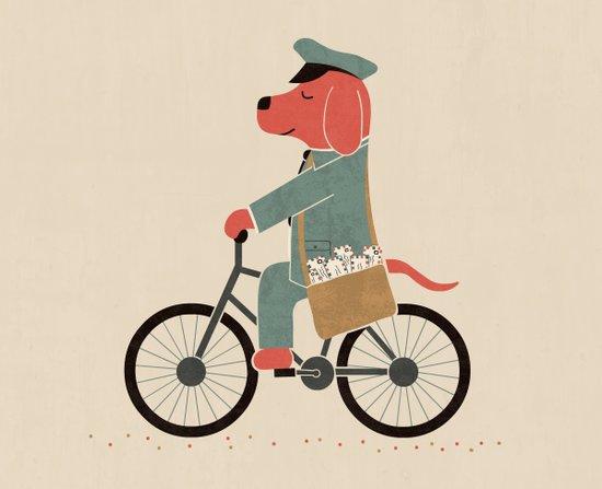 Postdog Canvas Print