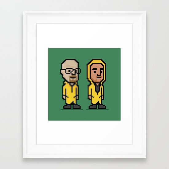8-Bit: Breaking Bad Framed Art Print