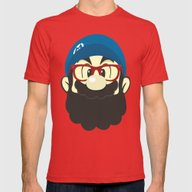 Mario Bro Mens Fitted Tee Red SMALL