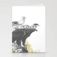 the watchers 3 B+W Stationery Cards