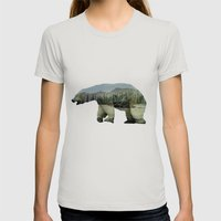 The Arctic Polar Bear Womens Fitted Tee Silver SMALL