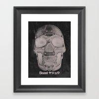 RoboSkull Framed Art Print
