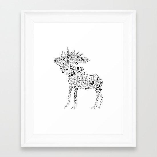 Many shapes of the Moose Framed Art Print