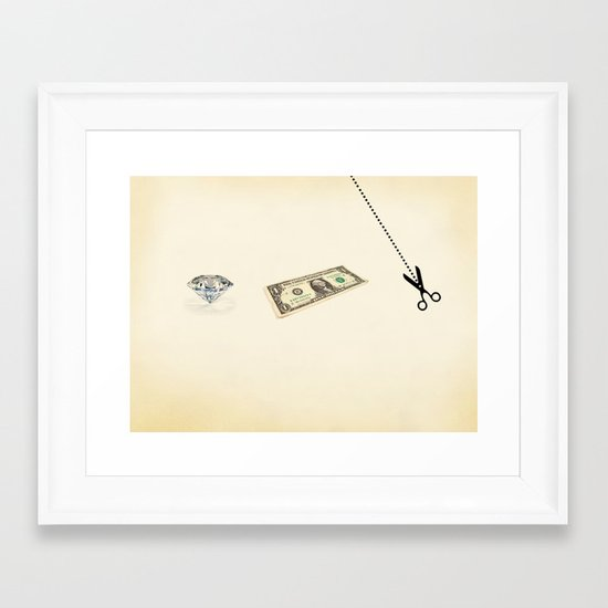 rock, paper, scissors Framed Art Print