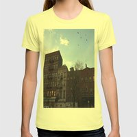 East Village Womens Fitted Tee Lemon SMALL