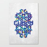 Cubed Balance Canvas Print