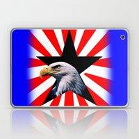 American Flag And The Ba… Laptop & iPad Skin