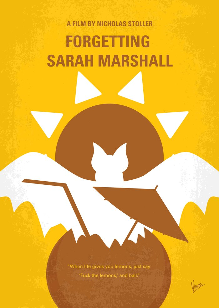 No394 My Forgetting Sarah Marshall minimal movie poster ...