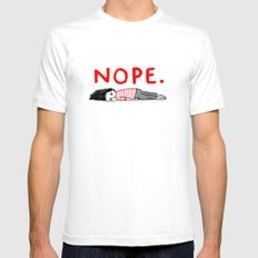 Nope Mens Fitted Tee White MEDIUM