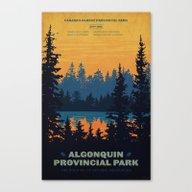 Canvas Print featuring Algonquin Park Poster by Cameron Stevens