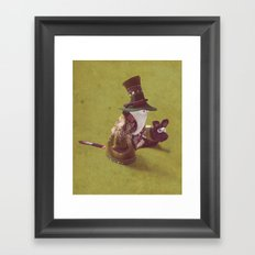 autumn walk Framed Art Print