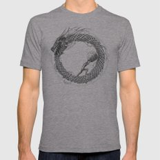 The Ouroboros / Uroboros and Sisyphus Mens Fitted Tee Athletic Grey SMALL