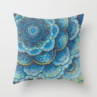 Birthday Mandala Throw Pillow