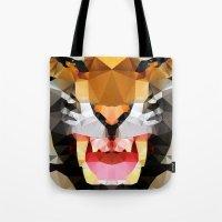 Tiger - Geo Tote Bag