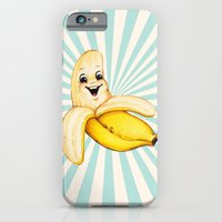 iPhone Cases featuring Banana by Kelly Gilleran