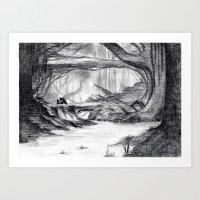Dream view serie - Deep Forest Art Print