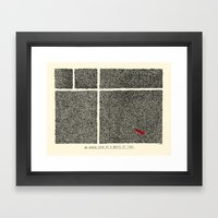 An Aerial View Of A Wast… Framed Art Print