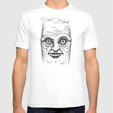 Don't Blink Mens Fitted Tee SMALL White