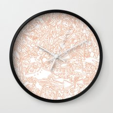 These Lines [We Draw] Wall Clock