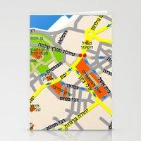 Tel Aviv Jaffa Map Desig… Stationery Cards