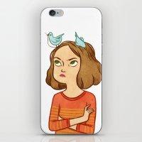 Pájaros en la cabeza  iPhone & iPod Skin