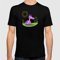 L. Horse Mens Fitted Tee Black SMALL