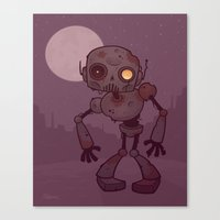 Rusty Zombie Robot Canvas Print