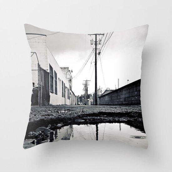 Urban Tacoma alley Throw Pillow