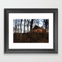 House On Hill Framed Art Print
