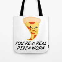 Sour food puns - pizza Tote Bag