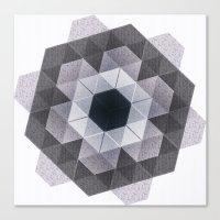 Patchwork Tiles III (mon… Canvas Print