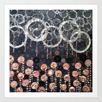 :: Peach Mimosa :: Art Print
