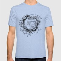HYPNOTIZED Lemur Mens Fitted Tee Tri-Blue SMALL