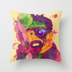 Dr. FraCryStein Throw Pillow