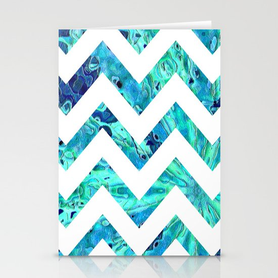Arctic Blast Chevron Stationery Card