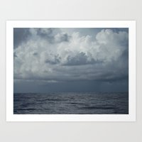 Storm over Ocean, Seascape, North Carolina Art Print